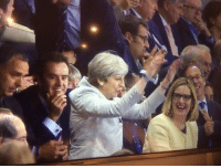 Theresa May doing the Mexican Wave was the worst decision she's made since calling a general election.: Theresa May doing the Mexican Wave was the worst decision she's made since calling a general election.