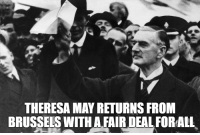 Theresa May Returns from Brussels with a Fair Deal (2018): THERESA MAY RETURNS FRONM  BRUSSELS WITH A FAIR DEAL FORALL Theresa May Returns from Brussels with a Fair Deal (2018)