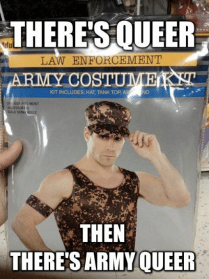 THERE'SQUEER LAW ENFORCEMENT ARMY COSTUMEKT KIT INCLUDES HAT TANK ...