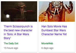 lornacrowley: He will bring balance to the Force: Therm Scissorpunch is  the best new character  in 'Solo: A Star Wars  Story  The Daily Dot  15 hours ago  Han Solo Movie Has  Dumbest Star Wars  Character Name Yet  MovieWeb  6 days ago lornacrowley: He will bring balance to the Force