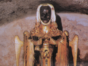 therurrjurr: The skull of the Magdalene at St Maximin in France: therurrjurr: The skull of the Magdalene at St Maximin in France