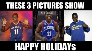 Merry Christmas Memes | Xmas Funny Memes for WhatsApp & Facebook 2018: THESE 3 PICTURES SHOW  WORLEANS  SİXERS I  HAPPY HOLIDAYs Merry Christmas Memes | Xmas Funny Memes for WhatsApp & Facebook 2018