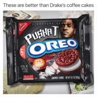 Pretty sure that's not icing 🤔 (collab with the goat @tank.sinatra): These are better than Drake's coffee cakes  S G N AT URE S E  OREO  100%  NITURAL AND  ARTIFICIALLY  FLAVORED  BEEF  SALED 0SANDWICHI COOKIES NETWI 107 02(303)  King Push C  rm not a Pretty sure that's not icing 🤔 (collab with the goat @tank.sinatra)