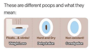 Phone, Reddit, and Mean: These are different poops and what they  mean:  Floats...& stinks!  Hard and Dry  Non-existent!  WeightLoss Dehydration Constipation Get ON our case! Reddit Gifts Phone Cases exchange has arrived! Sign up by July 9th to get matched!