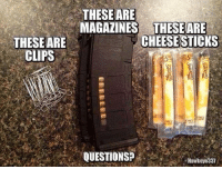 Memes, 🤖, and Questions: THESE ARE  MAGAZINES THESEARE  CHEESESTICKS  THESE ARE  CLIPS  QUESTIONS?  Hawkeye337