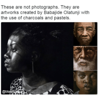 What a talent! I love how meaningful their faces are. @panafrican.roots blackexcellence blackpride blackandproud blackpower blackbeauty blackisbeautiful: These are not photographs. They are  artworks created by Babajide Olatunji with  the use of charcoals and pastels.  @bla What a talent! I love how meaningful their faces are. @panafrican.roots blackexcellence blackpride blackandproud blackpower blackbeauty blackisbeautiful
