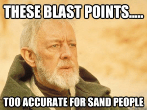The Mountain after being killed by Oberyn: THESE BLAST POINTS  TOO ACCURATE FOR SAND PEOPLE The Mountain after being killed by Oberyn
