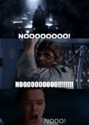 """These can be used to post in most star wars meme subreddits, and are quite versatile! Invest in star wars characters screaming """"NOOOO!"""" today! via /r/MemeEconomy https://ift.tt/3cx6IYd: These can be used to post in most star wars meme subreddits, and are quite versatile! Invest in star wars characters screaming """"NOOOO!"""" today! via /r/MemeEconomy https://ift.tt/3cx6IYd"""