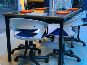 Happy, Faces-In-Things, and Looking: These doofy-looking lab chairs are just happy to do their part https://t.co/SHlaGNgYT4