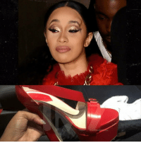 Memes, Nicki Minaj, and Shoes: These expensive ... these is bloody shoes and Cardi B flossed 'em at NYFW by taking one off and chucking it at Nicki Minaj 👠 Hit up stories for more Cardi taking her lumps cardib nickiminaj tmz nyfw 📸:getty