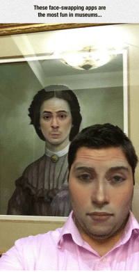 "Meme, Tumblr, and Apps: These face-swapping apps are  the most fun in museums... <p>Face-Swapping Apps.<br/><a href=""http://daily-meme.tumblr.com""><span style=""color: #0000cd;""><a href=""http://daily-meme.tumblr.com/"">http://daily-meme.tumblr.com/</a></span></a></p>"