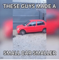 This thing looks like fun 😂 📹:@theminiaturescenes: THESE GUYS MADE A  SMALL CAR SMALLER This thing looks like fun 😂 📹:@theminiaturescenes