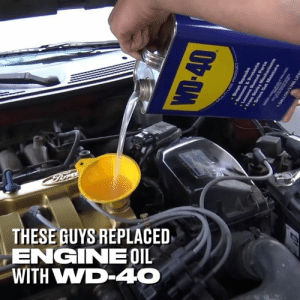 Cars, Dank, and 🤖: THESE GUYS REPLACED  ENGNEOIL  WITH WWD-40 I don't know what these lads were expecting to happen when they replaced their car's engine oil with WD-40... 😂🔥  Takeover NW