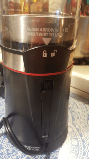 These instructions are on the back side of this coffee grinder: These instructions are on the back side of this coffee grinder