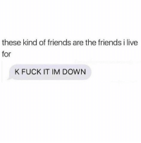 Friends, Fuck, and Live: these kind of friends are the friends i live  for  K FUCK IT IM DOWN RIDE OR DIE @mybestiesays