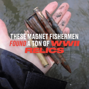 These guys found a huge amount of history just lying at the bottom of a river 👏  Dutch-WW2MagnetHunters: THESE MAGNET FISHERMEN  FOUND A TON OFWWI  RELICS These guys found a huge amount of history just lying at the bottom of a river 👏  Dutch-WW2MagnetHunters