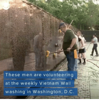 "🔊 """"""This is a way to give them the respect they've earned."" Veterans honor the fallen one wash at a time at the Vietnam Wall memorial in Washington, D.C. Tag Your Friends & Follow us @unclesamsmisguidedchildren 🇺🇸FB page Fb.Com-UncleSamsChildren 🇺🇸YouTube Channel youtube.com-c-UncleSamsMisguidedChildren 🇺🇸 Visit our website for AlternativeMedia www.UncleSamsMisguidedChildren.com 🇺🇸 unclesamsmisguidedchildren MisguidedLife USMCNation AmericanProud veteranowned Murica Merica USMC secondamendment PatrioticAsFuck NRA guns freedom liberty pewprofessional gunchannels 2ndamendment maga pewpew tactical igmilitia Americanaf 1776 Veteran military GlockWorld glock19 glock: These men are volunteering  at the weekly Vietnam Wall  washing in Washington, D.C. 🔊 """"""This is a way to give them the respect they've earned."" Veterans honor the fallen one wash at a time at the Vietnam Wall memorial in Washington, D.C. Tag Your Friends & Follow us @unclesamsmisguidedchildren 🇺🇸FB page Fb.Com-UncleSamsChildren 🇺🇸YouTube Channel youtube.com-c-UncleSamsMisguidedChildren 🇺🇸 Visit our website for AlternativeMedia www.UncleSamsMisguidedChildren.com 🇺🇸 unclesamsmisguidedchildren MisguidedLife USMCNation AmericanProud veteranowned Murica Merica USMC secondamendment PatrioticAsFuck NRA guns freedom liberty pewprofessional gunchannels 2ndamendment maga pewpew tactical igmilitia Americanaf 1776 Veteran military GlockWorld glock19 glock"