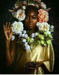 Chicago, Fake, and Memes: These photographers are exhibiting work that challenges African-American stereotypes. Tap the link in our bio to see more of these stunning images. Alanna Airitam looks at the absence of black people in the history of Western art, inviting African-Americans to pose in the style of classic Dutch portraiture. Endia Beal positions her models against a fake traditional office setting. The artist's experience of working in mostly white corporate workplaces includes people talking behind her back and making comments about her hair. Medina Dugger experiments with historical and imagined hairstyles inspired by Nigerian photographer JD 'Okhai Ojeikere, who spent 40 years creating black and white photographic studies of African women's hairstyles. PHOTO 1: Queen Mary, 2017, by Alanna Airitam alannaairitam PHOTO 2: Dapper Dan, 2017, by Alanna Airitam PHOTO 3: Sabrina and Katrina, 2015, by Endia Beal (@endia_beal) PHOTO 4: Blue Coiling Penny Penny, 2017, by Medina Dugger (@medinadugger) All images courtesy Catherine Edelman Gallery, Chicago (@edelmangallery) art artistsofinstagram photography portraitphotography africanamericans african bbcnews