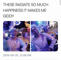 Bts, Happiness, and Giddy: THESE RADIATE SO MUCH  HAPPINESS IT MAKES ME  GIDDY  2018-09-20, 12:56 PM #BTS 🐾