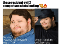 These Resident Evil 2 Comparison Shots Looking Mr X In The Original Resident Evil 2 Mrx In Resident Evil 2 Remake Game Meme On Me Me