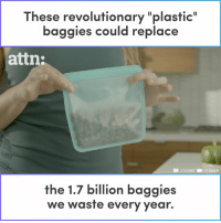 """Memes, 🤖, and Plastic: These revolutionary """"plastic""""  baggies could replace  attn:  DI STASHER STASHER  the 1.7 billion baggies  we waste every year. These revolutionary """"plastic"""" baggies could replace the 1.7 billion baggies we waste every year."""