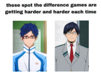 Friends, Tumblr, and Blog: these spot the difference games are  getting harder and harder each time  6 imidori-ya:  This just in: Runner boy with glasses likes rules and making friends with idiots.