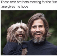 Memes, Twins, and Time: These twin brothers meeting for the first  time gives me hope