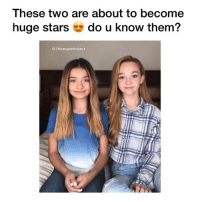 comment below if you know who they are @sophiemichellesays @iamrubyjay 🤯!! Follow me (@crazygoodvoices.1) for more!⠀ Tag 3 friends!: These two are about to become  huge stars do u know them?  IG | @crazygoodvoices.1 comment below if you know who they are @sophiemichellesays @iamrubyjay 🤯!! Follow me (@crazygoodvoices.1) for more!⠀ Tag 3 friends!