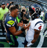 Memes, Seahawks, and Seattle: These two put on a show today in Seattle!  @DangeRussWilson + @deshaunwatson. #Seahawks #Texans https://t.co/mIapfDfy4B