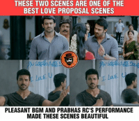 #Dhruva #Mirchi ❤️: THESE TWO SCENES ARE ONE OF THE  BEST LOVE PROPOSAL SCENES  『A  PLEASANT BGM AND PRABHAS RC'S PERFORMANCE  MADE THESE SCENES BEAUTIFUL #Dhruva #Mirchi ❤️