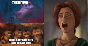 20 DreamWorks Logic Memes That Prove Their Movies Make No Sense: THESE TWO  SHOULD NOT HAVE BEEN  ABLE TO HAVE KIDS 20 DreamWorks Logic Memes That Prove Their Movies Make No Sense