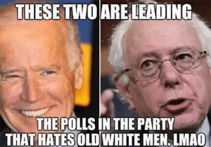 Click, Ironic, and Lmao: THESETWOARE LEADING  THE POLLS IN THE PARTY  THAT HATES OLD WHITE MEN. LMAO Can you say ironic?  There Is PANIC In The Diabetes Industry! Big Pharma executives can't believe their eyes. SEE WHY CLICK HERE ►► http://u-read.org/no-diabetes