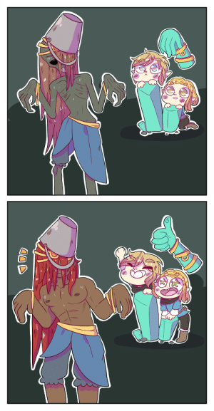 Tumblr, Blog, and Zombie: thesparkledash:  Don't even think about drawing rehydrated ganon if you're not willing to draw zombie GanonYOU COWARDS!