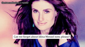 Now Please: thestanconfessions    tumblr  forget about Idina Menzel now, please?  Can we