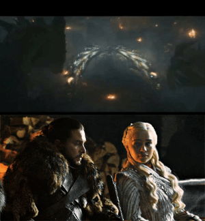 Fire, Tumblr, and Lost: thestomping-ground:  Jon and Dany realizing they've lost Royal Couple of the Year Award to a Giant Lizard and Moth. DD will be served Fire and Blood