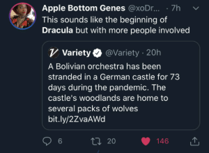 thestraggletag:  gleefully-macabre:  gleefully-macabre:   brawltogethernow:  gingerhastoomanyobsessions: I can't breathe Best wishes to these people obviously but I'm WHEEZING at the concept of a standard horror plot starter but the stranded travelers are an entire fully equipped orchestra.    It's the prequel to every other horror film. Their haunting spirits play the background music.     Oh shoot, that actually would be a really cool concept. The film starts with no thematic music, and as each member of the orchestra is picked off, their instrument joins the soundtrack. Subtly, so you don't really notice, and the end credits are a full orchestral symphony.   DUUUUUDE : thestraggletag:  gleefully-macabre:  gleefully-macabre:   brawltogethernow:  gingerhastoomanyobsessions: I can't breathe Best wishes to these people obviously but I'm WHEEZING at the concept of a standard horror plot starter but the stranded travelers are an entire fully equipped orchestra.    It's the prequel to every other horror film. Their haunting spirits play the background music.     Oh shoot, that actually would be a really cool concept. The film starts with no thematic music, and as each member of the orchestra is picked off, their instrument joins the soundtrack. Subtly, so you don't really notice, and the end credits are a full orchestral symphony.   DUUUUUDE
