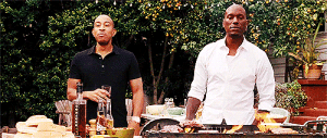 thewindtalker:  This scene was improvised, so ludacris' reaction is genuine and dwayne didn't have a line after tyrese said his. : thewindtalker:  This scene was improvised, so ludacris' reaction is genuine and dwayne didn't have a line after tyrese said his.
