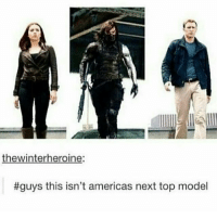 Seb strutting his stuff with a massive metal arm and a stick - Amy: thewinterheroine:  #guys this isn't americas next top model Seb strutting his stuff with a massive metal arm and a stick - Amy