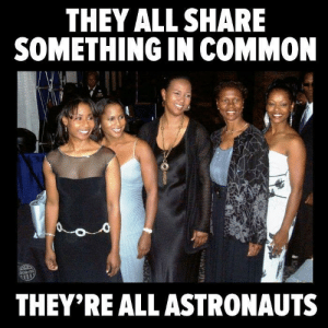 "Black History Month, Facebook, and Tumblr: THEY ALL SHARE  SMETHING IN COMMON  THEY'REALL ASTRONAUTS dmc-dmc: profeminist:  profeminist:  ACTUALLY, FOUR ASTRONAUTS AND A FIGHTER PILOT!    ""From left to right; astronauts Stephanie Wilson, Joan Higginbotham, Mae Jemison, Yvonne Cagle and fighter pilot Shawna Kimbrell""    Source Learn more about these great women: 1.   Stephanie Wilson 2. Joan Higginbotham 3. Mae Jemison 4. Yvonne Cagle 5. Shawna Kimbrell  Reblogging for Black History Month 2017!   Reblogging for Black History Forever!"