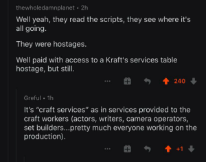 They ate Mac & Cheese on the set of Game of Thrones, according to an r/FreeFolk user.: They ate Mac & Cheese on the set of Game of Thrones, according to an r/FreeFolk user.