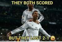 Ronaldo & SergioRamos 😂 Follow @instatroll.soccer (me) for more ⚽️: THEY BOTH SCORED  fty  Emirate  BUT THEY LOST 2-1  Getty Images Ronaldo & SergioRamos 😂 Follow @instatroll.soccer (me) for more ⚽️