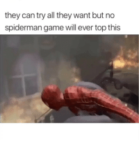 Funny, Game, and Spiderman: they can try all they want but no  spiderman game will ever top this Classic clip of the day 😂