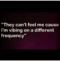 "GM: They can't feel me cause  I'm vibing on a different  frequency"" GM"