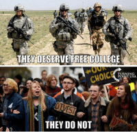 Memes, 🤖, and Usa: THEY DESERVE FREECOLLEGE  RNIN  POINT USA  CHOICE  THEY DO NOT YUP!