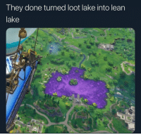 Lean, They, and Done: They done turned loot lake into lean  lake Lean Lake 😂🤦‍♂️ https://t.co/JgFCNLcl4R