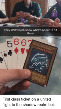 Flight, United, and Dank Memes: They don't even know what's about to hit  them  566  First class ticket on a united  flight to the shadow realm boii