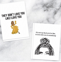 Girl Memes, Valentine, and Valentine Day: THEY DON'T LOVE YOU  LIKE ILOVE YOU  It's not my fault you're like,  in love with me or something Not to brag or anything but we have the best Valentine's Day cards. Only at @shopbetches 💔 🔪 link in bio shopbetches