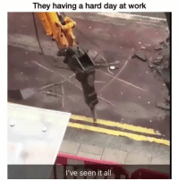 Funny, Work, and Construction: They having a hard day at work  I've seen it all No wonder construction be taking hella long