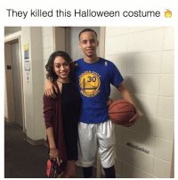 I thought it was really them 😂: They killed this Halloween costume  HARIO  allb  elihr  ese I thought it was really them 😂