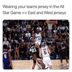 They need to bring back team jerseys in the All-Star game. https://t.co/9iohIlStXJ: They need to bring back team jerseys in the All-Star game. https://t.co/9iohIlStXJ